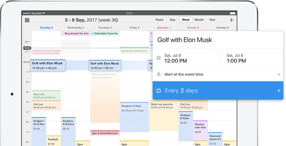 Calendar and reminder app for iPhone and iPad | Calendars 5