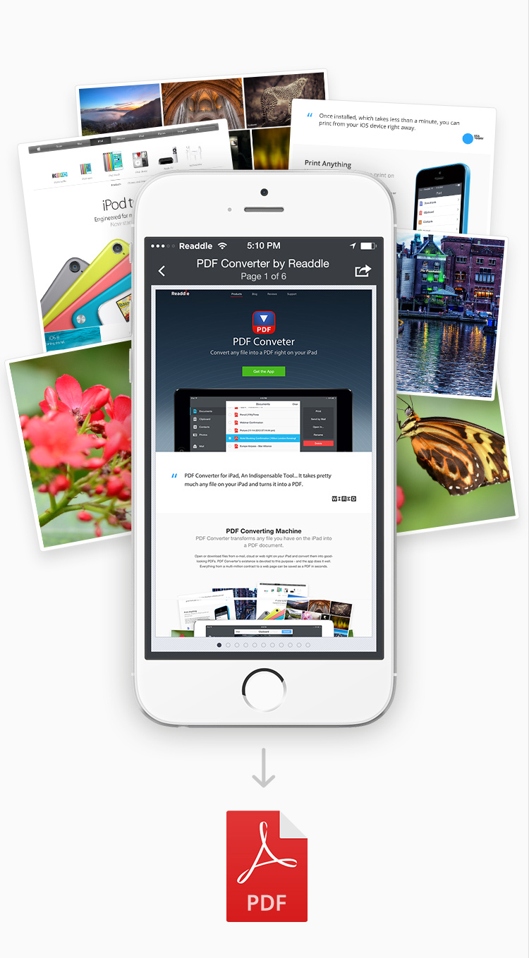 PDF Converter for iPad and iPhone | Convert anything to PDF